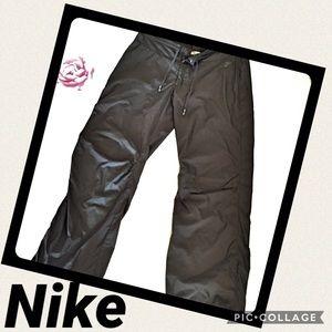 ❤️Nike Sports Black Polyester Wide-Leg SweatPants